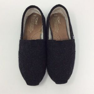 Toms Wool and Shearling Slip On Shoes